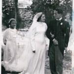Ettore Salomone fu Nicola il giorno delle nozze co